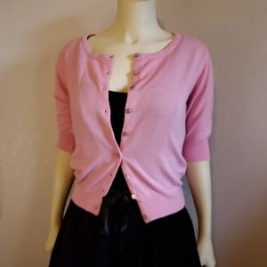 Bettie Page Pink Half Sleeve Cardigan